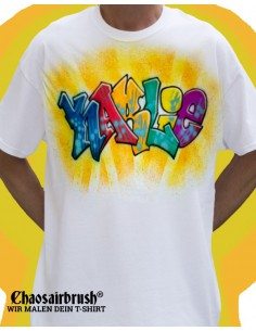 Hip Hop T-Shirt mit Namen Graffiti T-Shirt mit Namen Karlie Colored Original Handgemalt von Chaosairbrush
