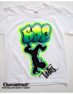 Street Dance Team T-Shirt Hip Hop Competition Handgemalt Chaosairbrush
